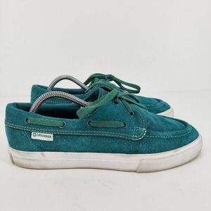 Converse Womens Suede Lace Up Teal Shoes Sz US 10
